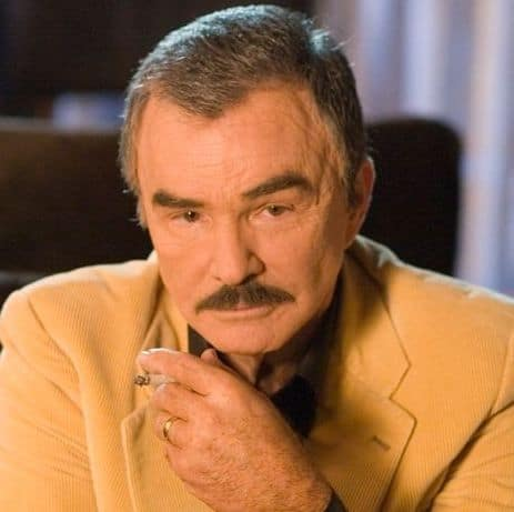 Picture of Burt Reynolds thin hair.
