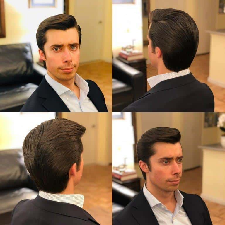 side swept hairstyle for businessman
