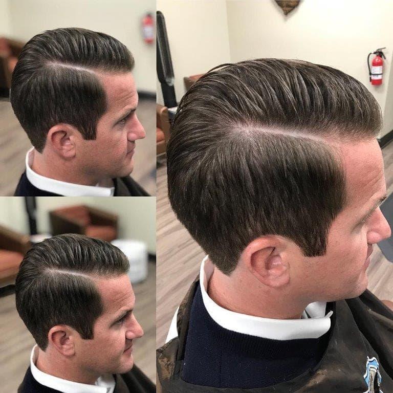 side part haircut for businessman