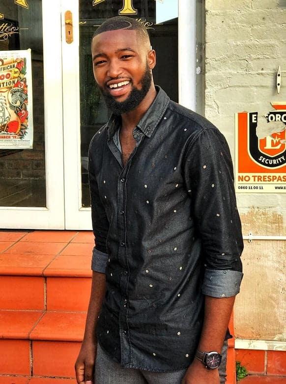 black guy with butch cut