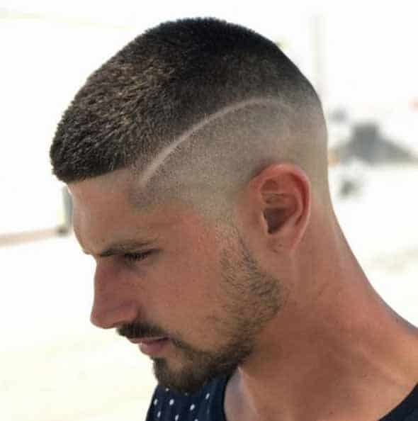 High Buzz Cut with A Design