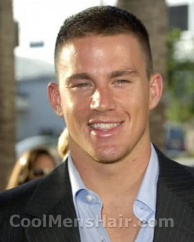 Picture of Channing Tatum crew cut.