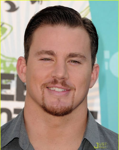 Channing Tatum classic side parted hairstyle photo for men.