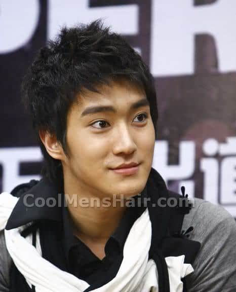 Choi Si Won spiky hair.