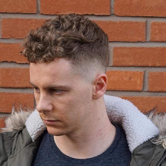 caesar cut with choppy curls