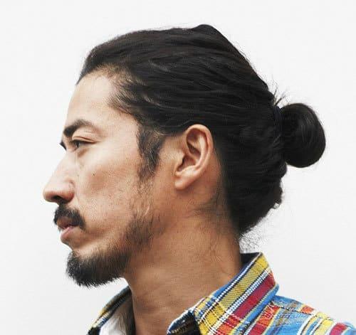 man bun backwards for asian men
