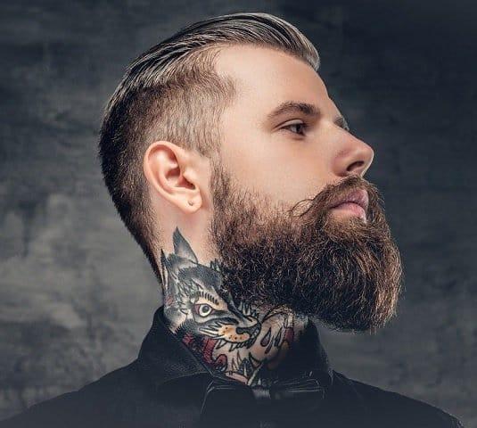 keeping neck beard clean