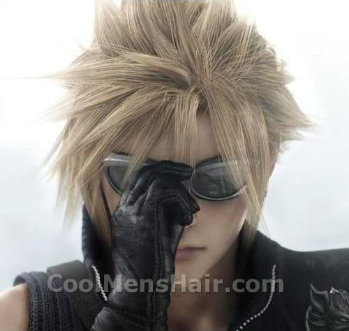 Photo of Cloud Strife hairstyle.