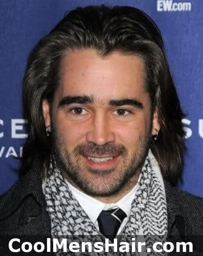 Photo of Colin Farrell hairstyle.