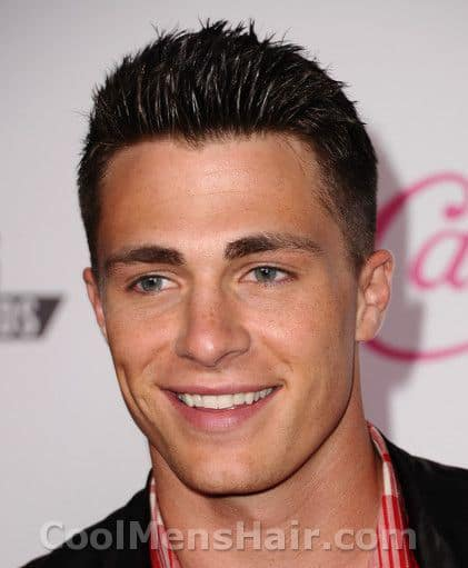 Photo of Colton Haynes hairstyle.