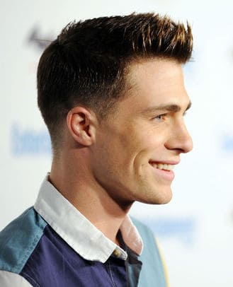 Photo of Colton Haynes tapered haircut.