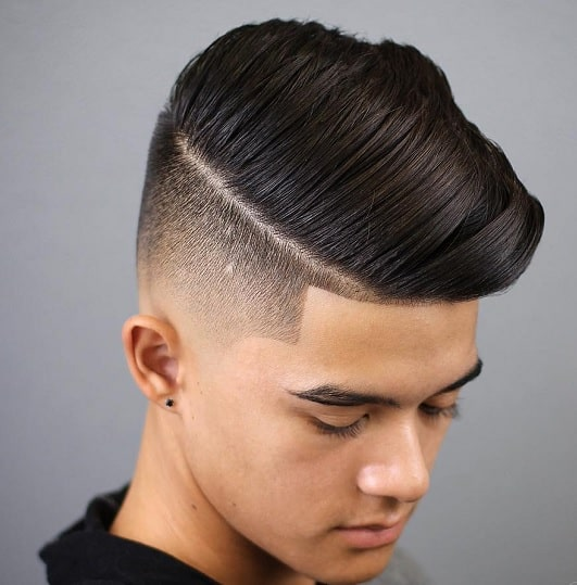 comb over fade for 13 year old boy