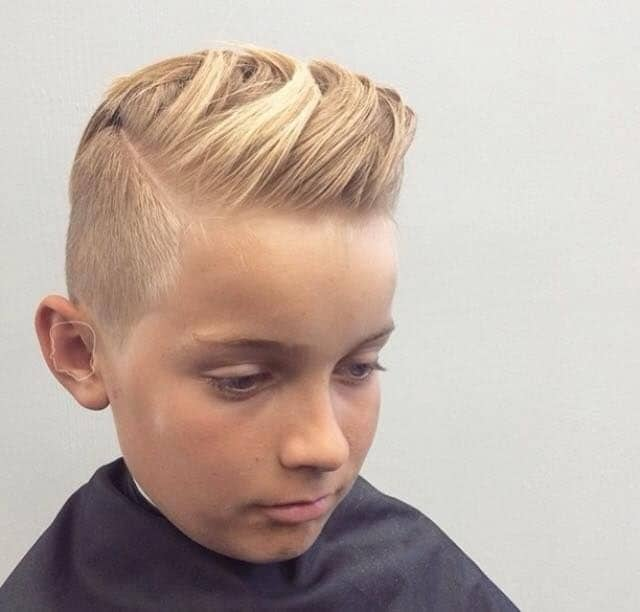 boy's comb over haircut for blonde hair