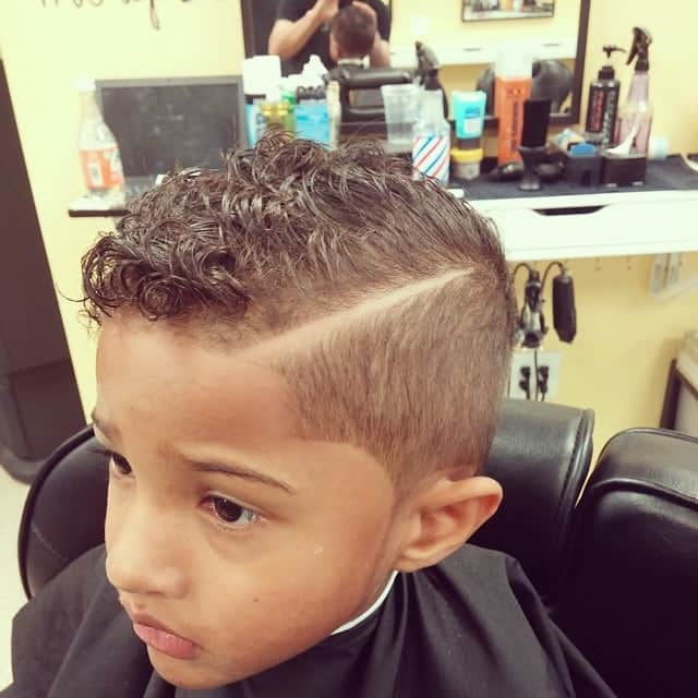 comb over haircut for boys with curly hair