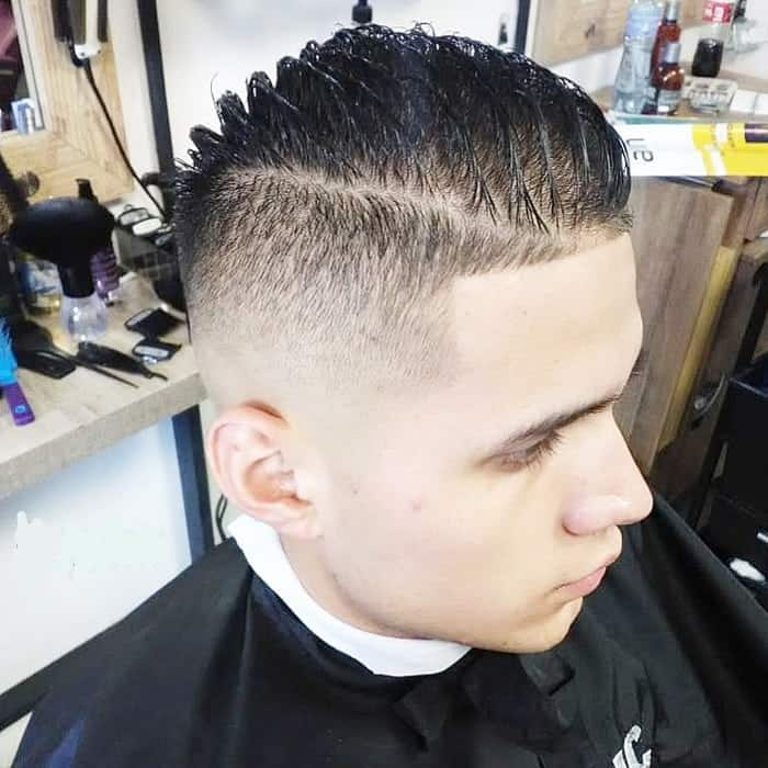 comb over fade for boys