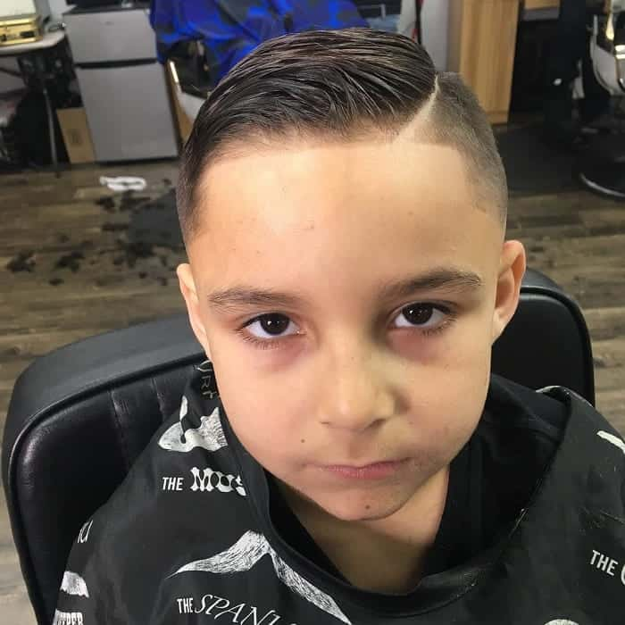 Boys Comb Over with Hard Part