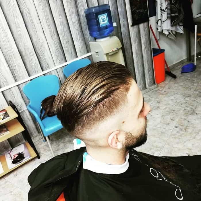 Comb Over with Razor Fade