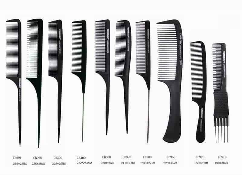 different styles of combing hair 10 types of hair combs amp their uses cool s hair 7297
