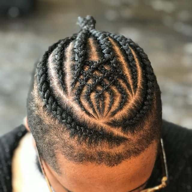cornrow with design for men