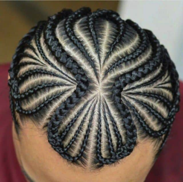 Face Framing Shapes for Cornrows
