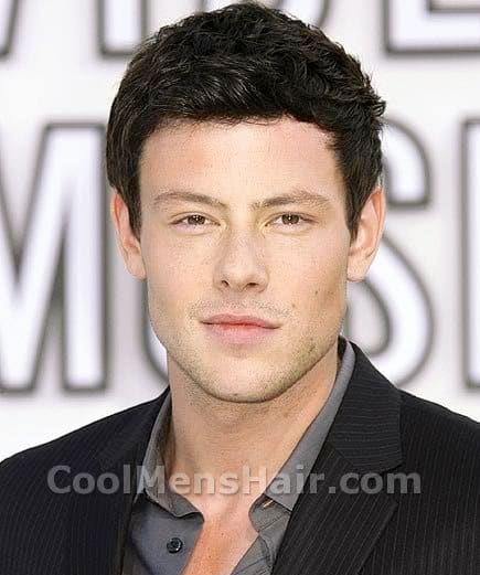 Photograph of Corey Monteith hairstyle.