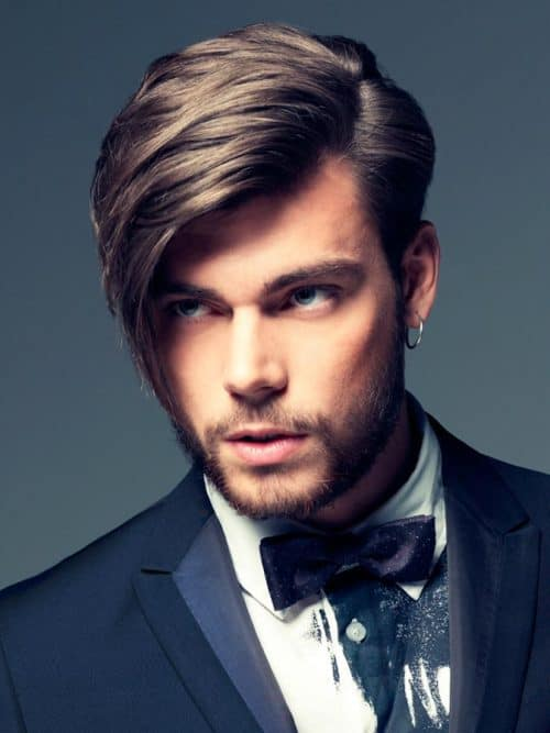 Angular Cowlick hair for Men