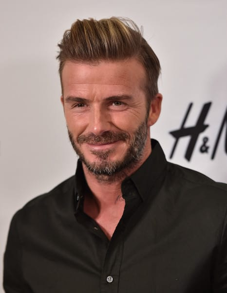 David Beckham's Cowlick Style