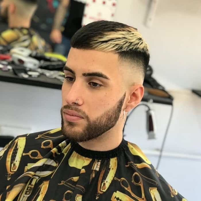 crop top fade for straight hair