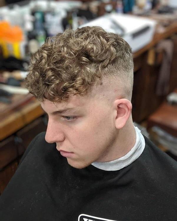 curly crop top fade