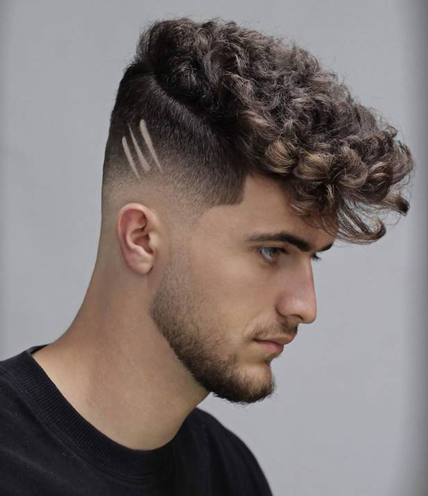 Curly Faux Hawk Hairstyles for Men