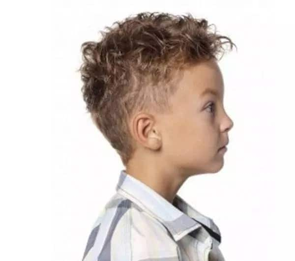 cute loose wave curly hairdo for toddler boy