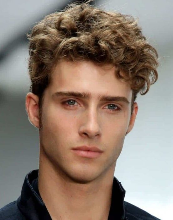 cool curly hairstyle for men