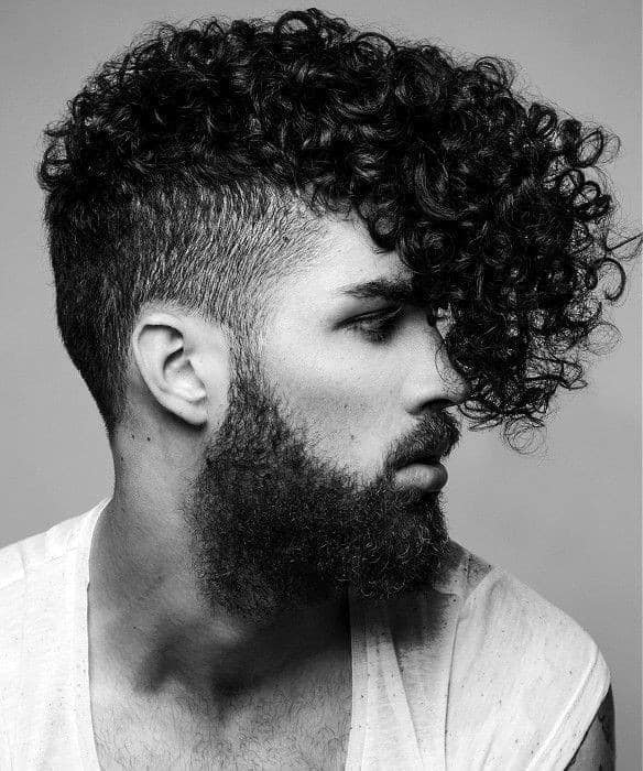 Prolonged Curly Hair for men