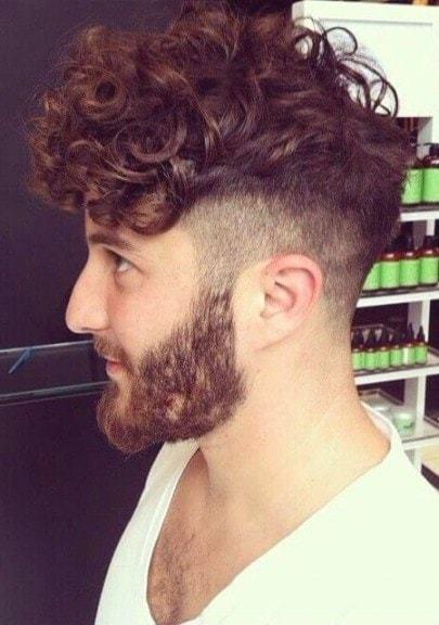curly hair with beard