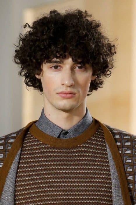 Medium Curly Hair for men