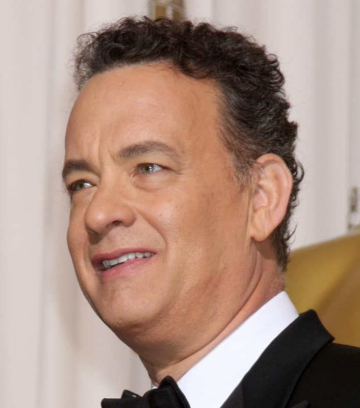 curly haired veteran actor - Tom Hanks