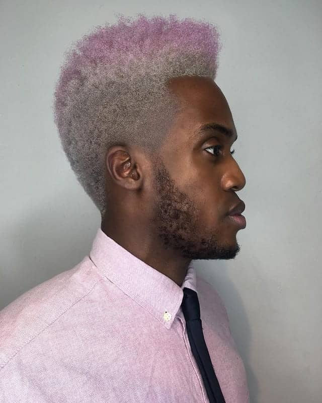 Blonde Curly High Top Fade