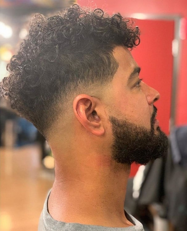 Shadow Fade on Curly Hair