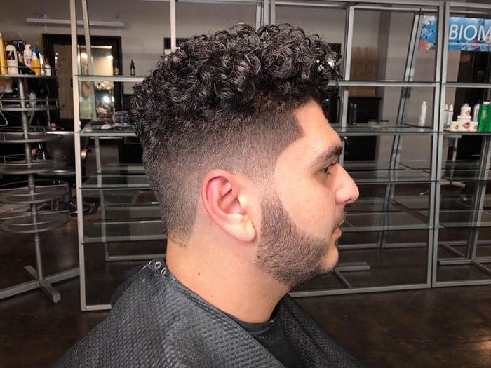 Curly Taper Haircut