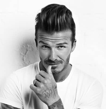 Photo of David Beckham Quiff hair.