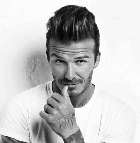 Photo of David Beckham Quiff hair.