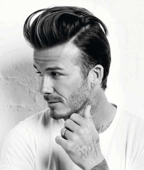 Photo of David Beckham Quiff hairstyle.