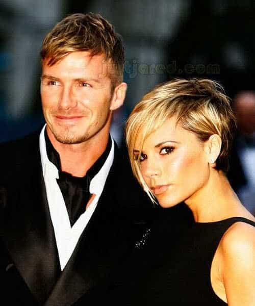 David Beckham short hairstyle.