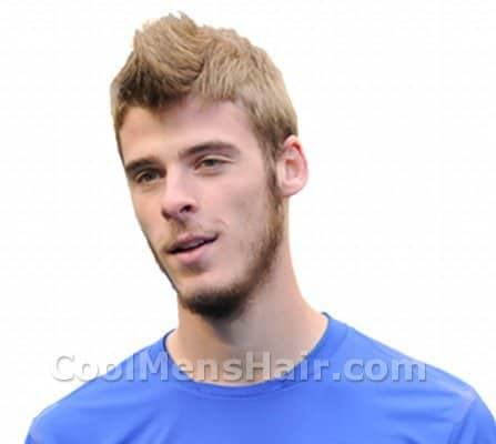 Photo of David de Gea hairstyle.
