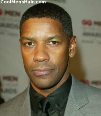 Photo of Denzel Washington black short hairstyle for men.