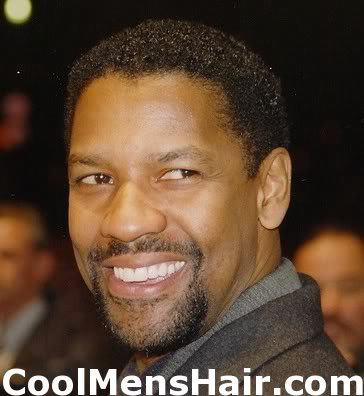 Picture of Denzel Washington curly hairstyle.