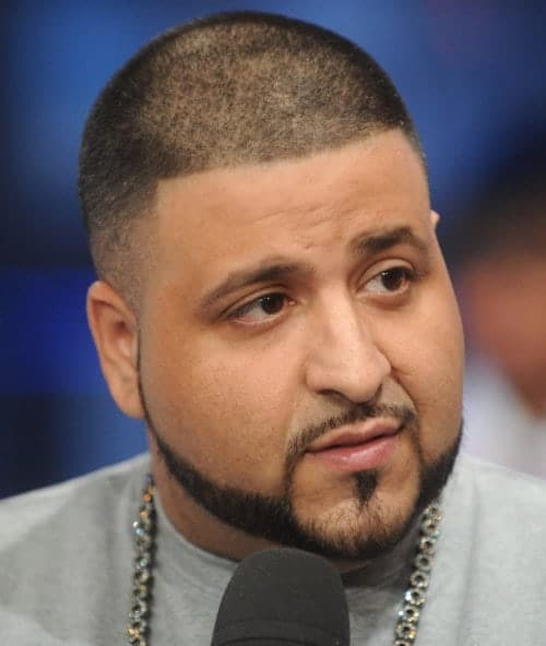 DJ Khaled Short Taper Fade Cut with Beard