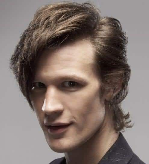 Picture of Matt Smith hairstyle in Doctor Who.