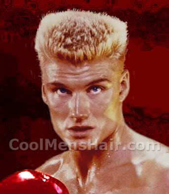 Dolph Lundgren flat-top hairstyle photo.
