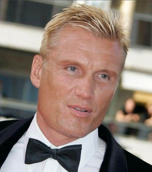 Photo of Dolph Lundgren hairstyle.